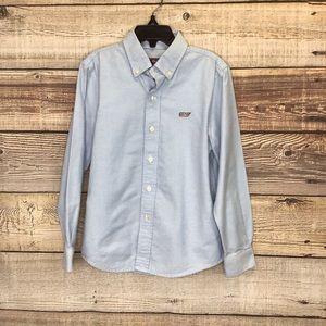 Vineyard Vines Whale Shirt Long Sleeve boys 6 blue